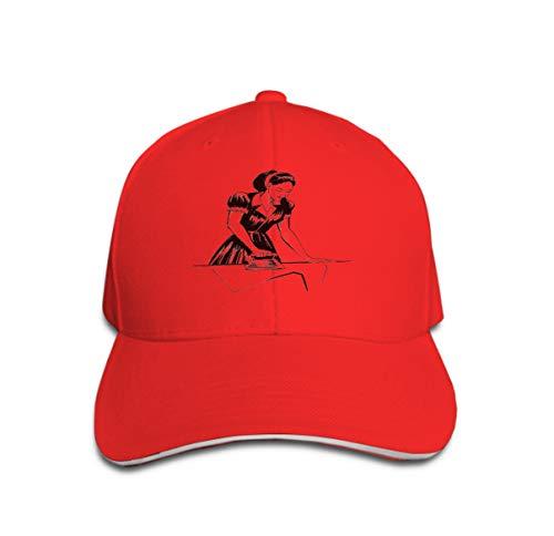 Classic 100% Cotton Hat Caps Unisex Fashion Baseball Cap Adjustable Ink Black White Lady Ironing Vintage Iron Woman Ironing (Iron Mann Lady Kostüm)
