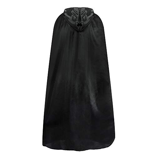 Aiserkly Damen Halloween Umhang Mit Kapuze Lange Cosplay Kleid Kostüm Urlaub Party Club Mantel Tops Vampir Umhang Cosplay Karneval Bluse Schwarz