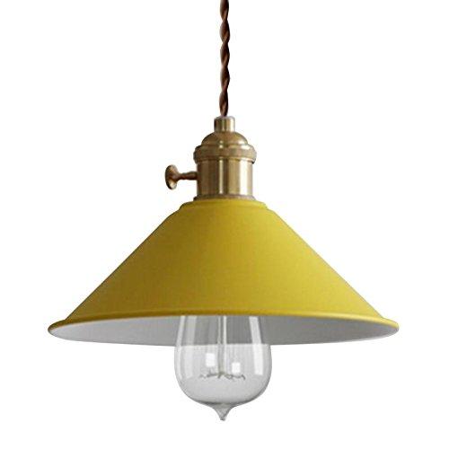Ruanpu Lámpara de iluminación de techo Vintage Lámpara colgante Lámpara de metal amarillo para la sala de estar del loft de la casa Bar Restaurantes Cafetería Decoración del club