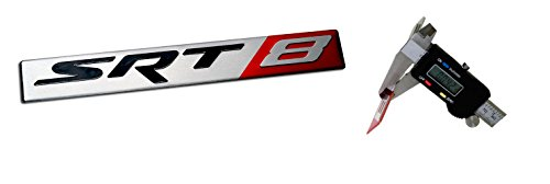 Preisvergleich Produktbild SRT8 Street Racing Technology ALUMINUM Emblem Badge Nameplate Logo Decal Rare (NOT ABS PLASTIC) for Dodge Challenger Charger Magnum Chrysler 300C Jeep Grand Cherokee 6.4L Liter Chrysler V8 392 470HP 6.1L 425HP Engine Swap 05 06 07 08 09 10 11 12 13 14 2005 2006 2007 2008 2009 2010 2011 2012 2013 2014