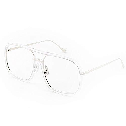 Die täglichen Erfordernisse Ins transparente Brillengestell weibliche koreanische Version der Flut Su Yan große Kiste rundes Gesicht großes Gesicht war dünn Retro Augen net rote Brille männlich