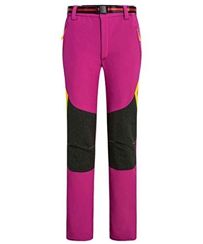 Chlnix donna outdoor quick dry water repellent zip off pantaloni da donna adulti cuciture a pantaloni colorati per passeggiate/trekking/trekking/campeggio/sport