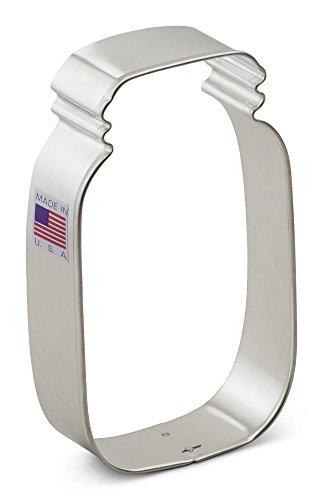 Ann Clark Mason Jar Cookie Cutter - 4.5 Inches - Tin Plated Steel by Ann Clark Cookie Cutters Fruit Cookie Jar