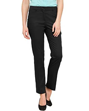 Comma Damen Hose 81.304.76.3210 HOSE, Gr. 34, Schwarz (9999 black)
