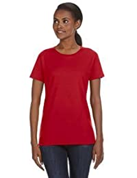 Anvil Ladies' Ringspun Midweight Mid-Scoop T-Shirt>2XL RED 780L by Anvil