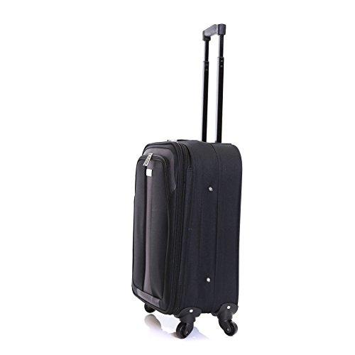 Slimbridge Andalucia Set bestehend aus 2 erweiterbar Koffer, Schwarz Schwarz