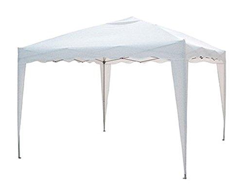 Verdelook gazebo 2x2 m pieghevole e richiudibile automatico bianco con struttura in alluminio