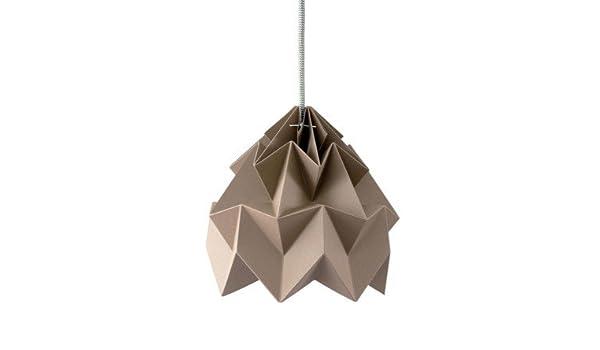 Studio Snowpuppe Lamp : Kleine hängelampe origami moth taupe durchmesser cm snowpuppe