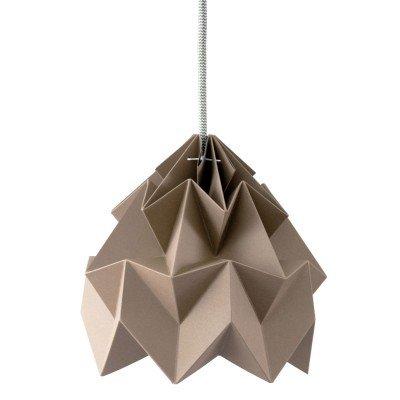 Petite Suspension Origami Moth Taupe Diam 20 cm Snowpuppe