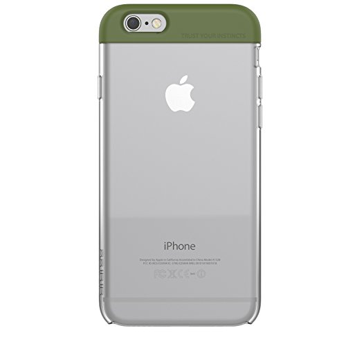 iPhone 6S Plus Fall, araree® [Pops] transparent Backplate Soft PC Fall Flip Cover für Apple (2015) Olivgrün