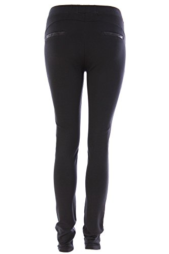 Legging en simili cuir et stretch Noir