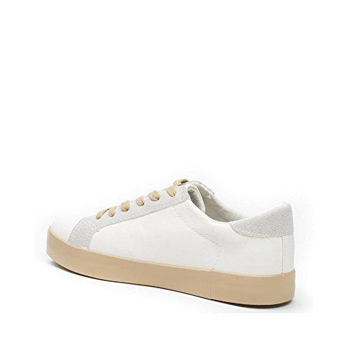 Ideal Shoes - Baskets basses colorées Melodine Blanc