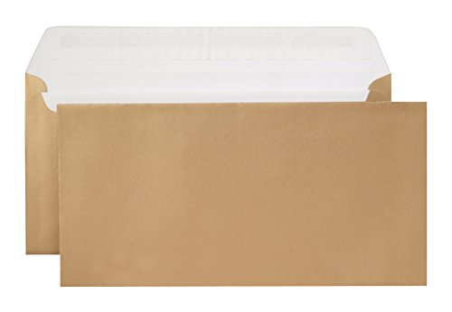 Metallics Briefumschläge /gold – metallisch / 114×229 mm (Din lang) / mit Abziehstreifen / haftklebend / 100 Stück