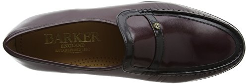 BARKER Herren Jefferson Slipper, Schwarz Purple (Burgundy/ Black Kid)