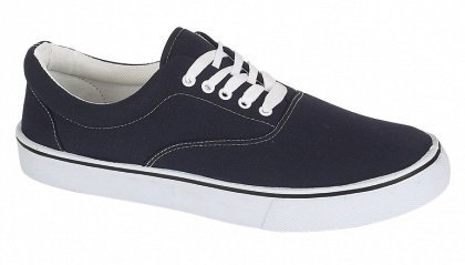 UNISEX LACE UP MENS WOMENS PLIMSOLES PLIMSOLLS PUMPS TRAINERS ESPADRILLES DECK SKATE SHOES CANVAS BOYS GIRLS ADULT SIZES NAVY 11