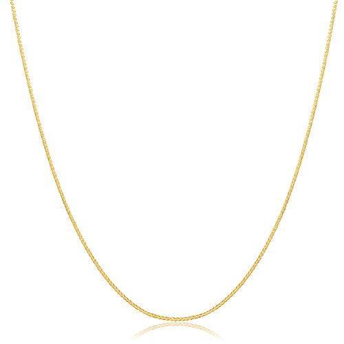 14 Karat 585 Gold Feine Diamantschliff Spiga Weizen Kette Gelbgold (55)