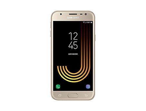 Samsung Galaxy J3 (2017) Smartphone, Gold, 16 GB Espandibili [Versione Italiana]