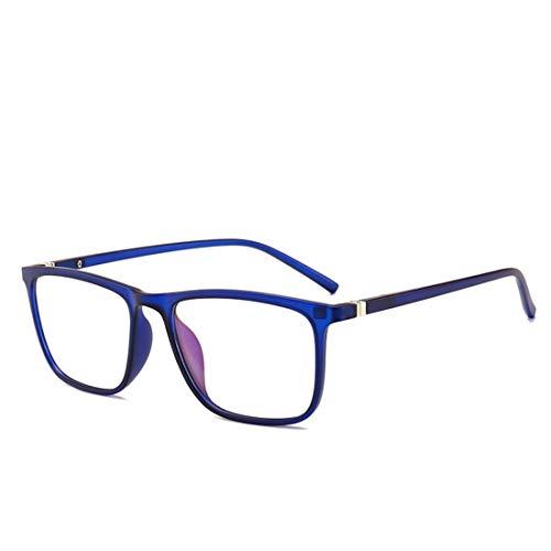 Shiduoli Leichte Brillenfassung Nicht verschreibungspflichtige Brillen für Frauen, Brillen für Outwear (Color : Blue)