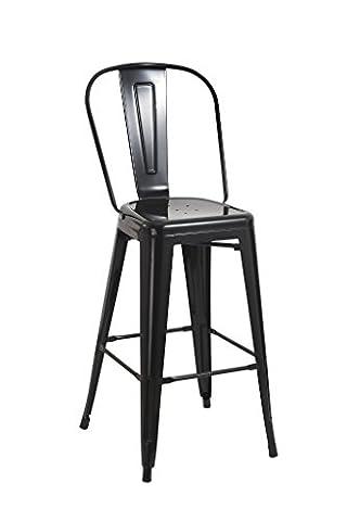 Tabouret de bar industriel en metal NOIR Duhome DH0765 le repos avec chaise de bar VINTAGE