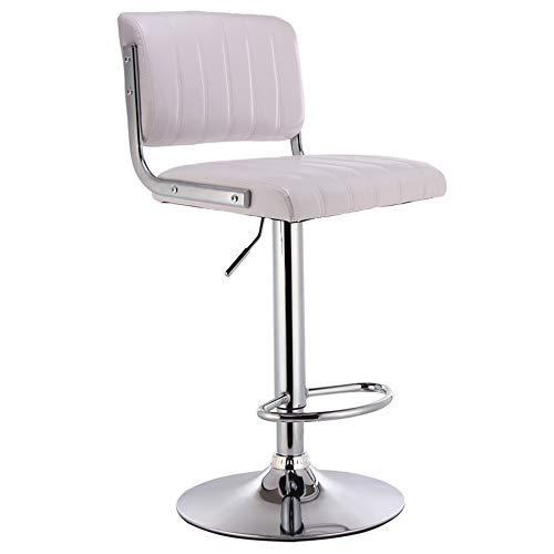 mit lehne 2er Set Zähler Küche Esszimmerhocker Barstühle Schwenkbares Frühstück mit Rücken und Fußstütze tresenhocker ()