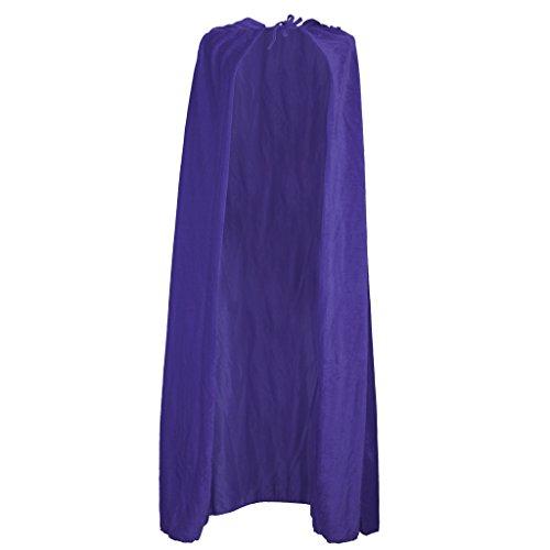 Zauberer Hexe Samt Umhang Karneval Fasching Kostüm umhänge Cosplay Hexen Robe - Lila (Zauberer Halloween)