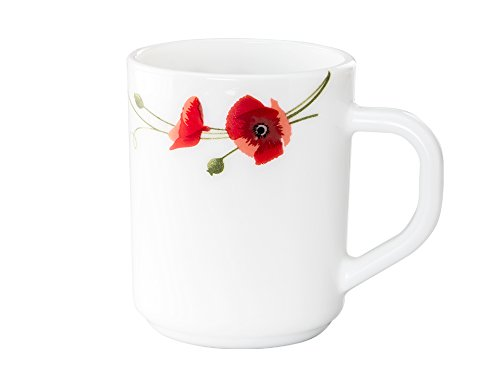 Mug Set of 6 Pcs Red Carnation By Larah