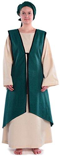 HEMAD Mittelalter Überkleid zum Schnüren grün Mittelalterliches Kleid