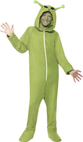 Unisex Kinder Halloween Fancy Kleid Alien Kostüm Kinder komplett Outfit (Komplette Alien Kinder Kostüm)