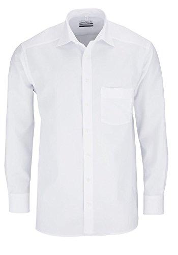 MARVELiS MARVELIS Comfort Fit Herren Hemd New Kent Langarm Popeline- Gr. 39, Weiß