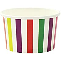 Talking Tables Mix and Match Coppette gelato in carta, multicolore, confezione da 10 - Mini Gift Bag
