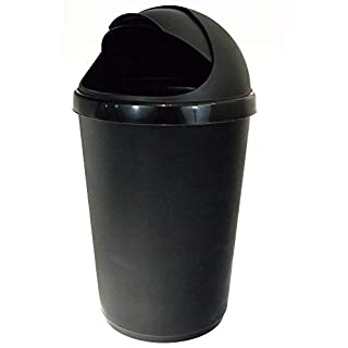 Whitefurze Black 50 Litres Bullet Bin And Lid Black 50 Litres by Whitefurze