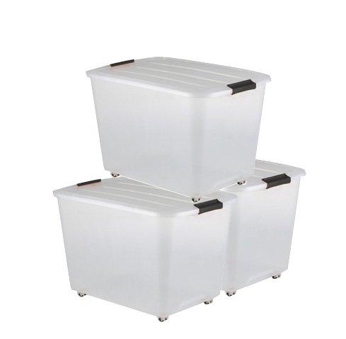 Scatola plastica 3 x 60 litri, Scatola di plastica trasparente ...