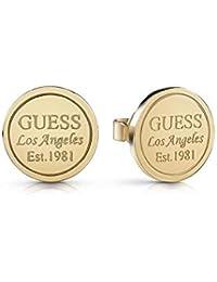 70e0eb27cc6a Guess Pendientes de botón Mujer chapado en oro - UBE28035