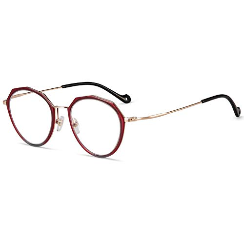 2019 neue Photochromism Lesebrille, High-Definition-Objektiv Mode ultraleichten Rahmen fern und nah Dual-Use-Smart-Zoom alte Brille für das Lesen im Freien von 1,0 bis 3,0 geeignet,Red,+3.0