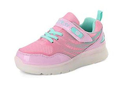 Y.Verve Leuchten Schuhe-blinkende Turnschuhe LED-Schuhe Leuchtende Sportschuhe für Jungen Mädchen leuchten Trainer(Rosa EU ()