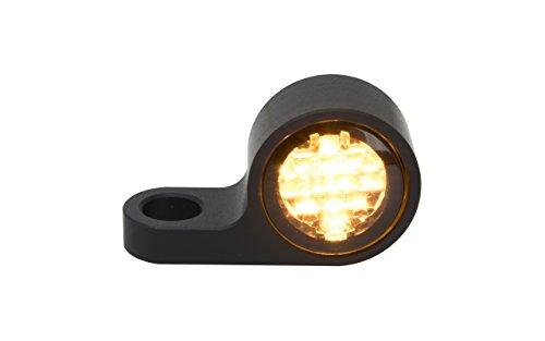 Blinkergehäuse schwarz eloxiert Universal für 20mm LED Einsätze, Blinkerhalter LED-Blinker Armaturen Lenkerarmaturen Blinker (LED getönt) (Harley Led-blinker-einsätze)