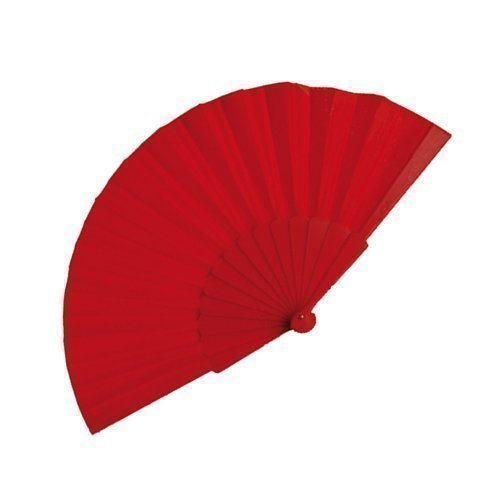 eBuyGB Handheld Pretty Fan Summer Wedding Accessory and Favour, Red