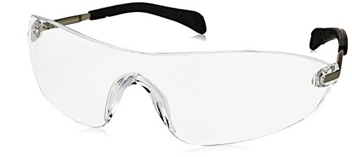 a734e37b3e40 Crews S2210AF Blackjack Elite Safety Glasses with Chrome Metal Temple and  Clear Anti-Fog Lens