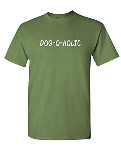 Dog-O-Holic - Canine Dog Party Breed Fun - Mens Cotton T-Shirt L -