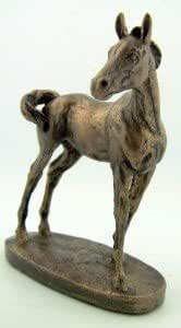 PLC 4 Inch Bronze Abyssinian Gala Foul Horse Home Office Desk Figure Statue by Religious Gifts