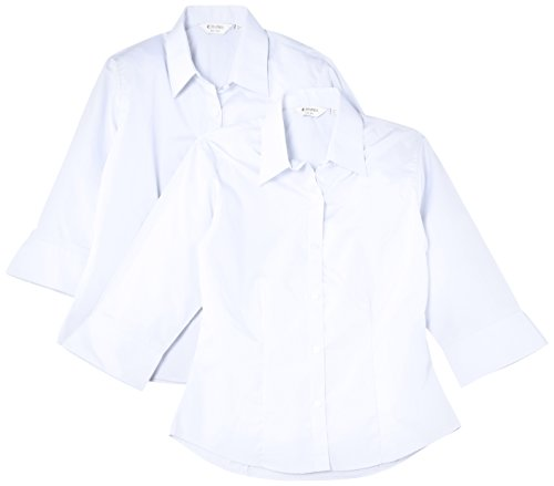 Trutex Limited 2 pack Girl's 3/4 Sleeve Fitted Plain Blouse