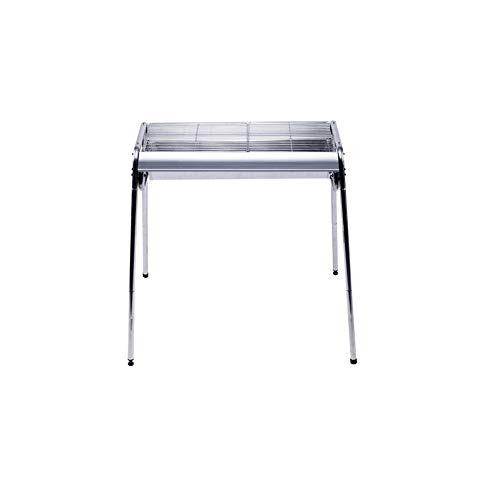WFFH Camping Grill Camping Herd, Portable Charcoal Grill, Grill Grill Edelstahlgrill Grills Adjustable Camping Grillen Kochen Grate für Outdoor-Indoor, 72 * 32 * 82CM,Silver
