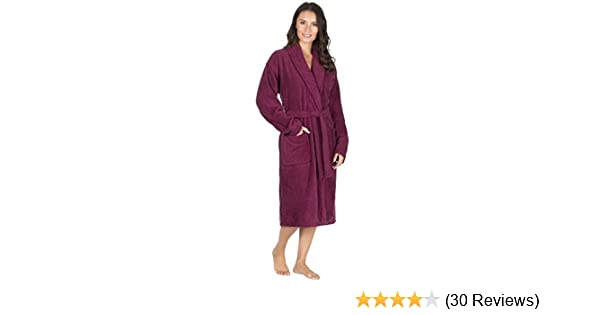 Ladies Pure 100% Cotton Luxury Towelling Bath Robe / Dressing Gown ...