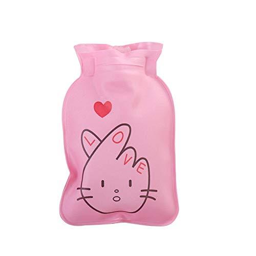junjunli PVC Thermos kleine Hof Warm Wassersack Wärmflasche Warm Wasser Tasche Kinder Mini Handwärmer Cartoon Charge Wasser Warm Handtaschen Kinder Mini Handwärmer Cartoon Füllung Tragbare Handtasche