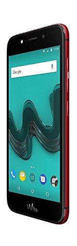 Wiko Wim lite Smartphone (12,7 cm (5 Zoll FHD), 32 GB ROM/3 GB RAM) cherry red -