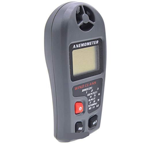Zcyg Anemómetro Medidor Velocidad Viento Flujo de Aire medidor de Viento de Velocidad LCD termómetro...
