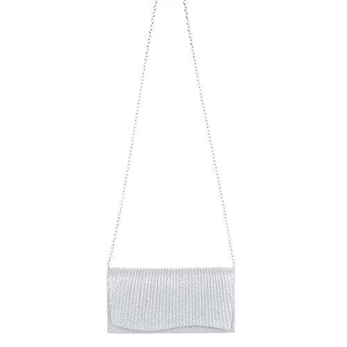 Ital-Design, Borsetta da polso donna Argento