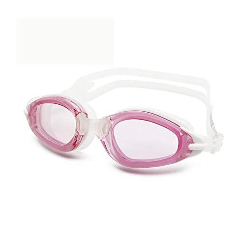 Erwachsene Männer und Frauen Silikon-High-Definition-Schwimmbrille,wasserdichter Anti-Fog- und UV-Schutzbrillen mit großem Rahmen 3 Stück,E
