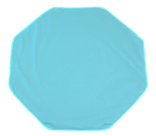 Looping BTPO Polyvinyl Chloride (PVC) Octagon Playpen Mat with Fastening Ringholes - Mat Dimensions 108 x 108 cm - Blue Lagoon