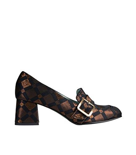 PAOLA DARCANO Damen Loafer mit Stoffüberzug glänzend Diamant Bronze 40 -